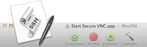 OS X : AppleScript pour automatiser la création d'un tunnel SSH pour VNC