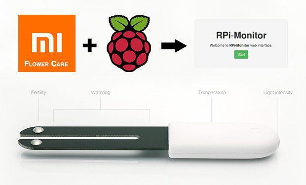 RPi-Monitor : Importer les données depuis un capteur Xiaomi Flower Care / MiFlora en Bluetooth
